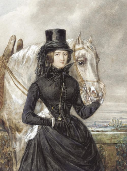 A Lady in Riding Clothes Candide Blaize 1842