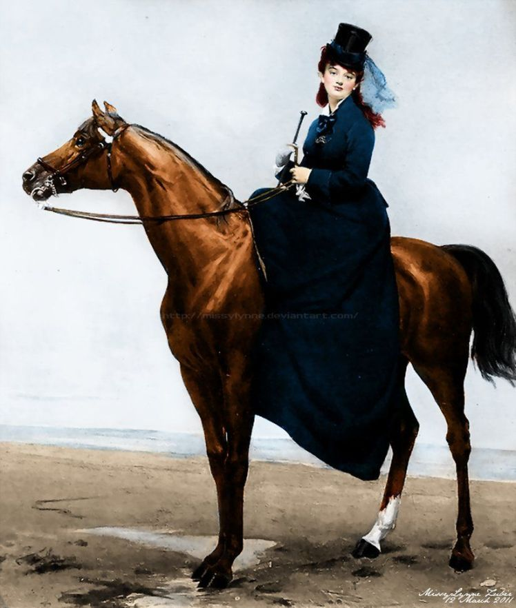 Equestrian Portrait of Mademoiselle Croizette by the French artist Charles Auguste Émile Durand,1873.