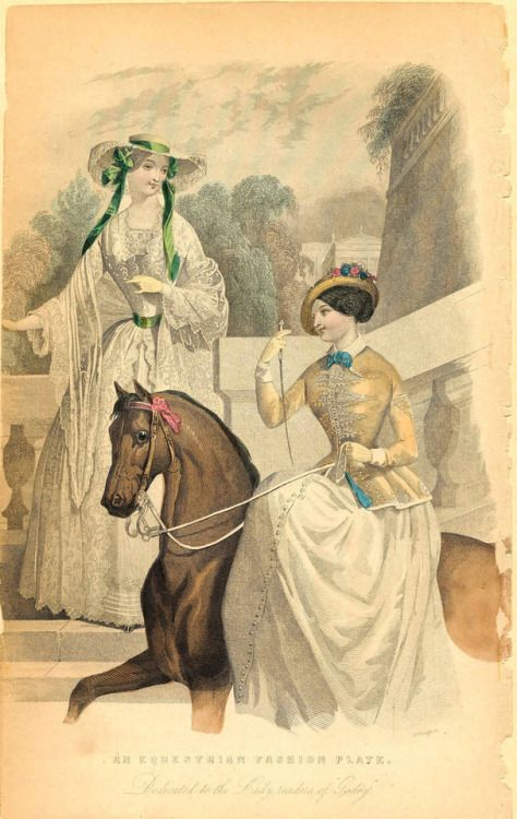 Godey's fashion plate, 1842