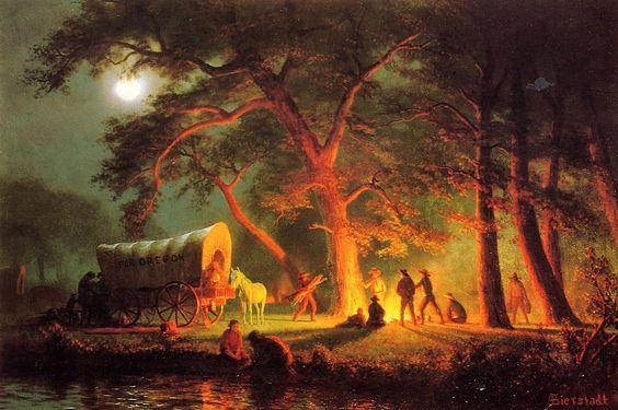 he Oregon Trail painting originally painted by Albert Bierstadt